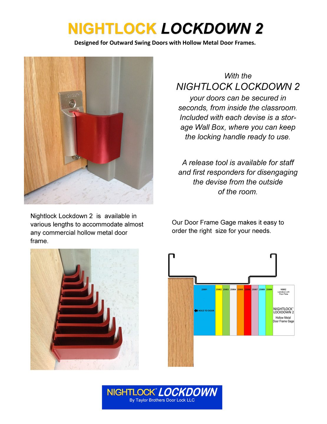 Nightlock Lockdown 2 Door Barricade Installation