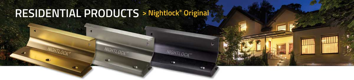 Nightlock-Original Door Security For Your Home or Business. The NIGHTLOCK® Original Door Brace is a barricade for doorways that uses the strength of the floor and can withstand tremendous force. Simply secure the brace to the floor and slide the locking mechanism into place.